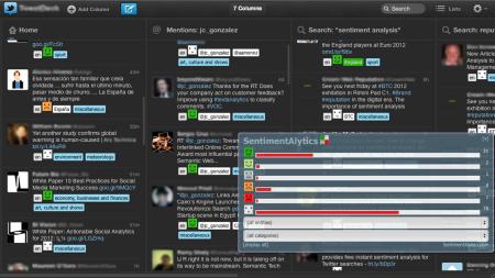 Sentimentalytics screenshot